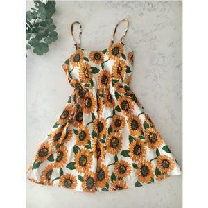 Sunflower Dress with Crisscross Back - S